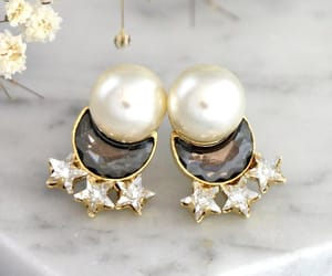 earrings, etsy, and fashion image