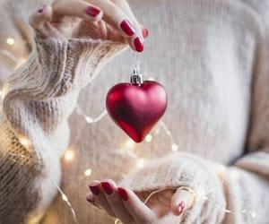 christmas, heart, and lights image