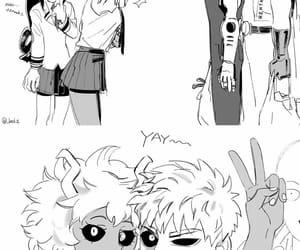 mina, saitama, and ashido image