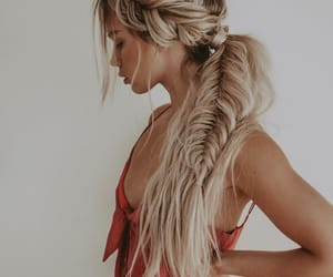 blonde hair, hair, and long hair image
