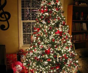 decoration, merry christmas, and tree image