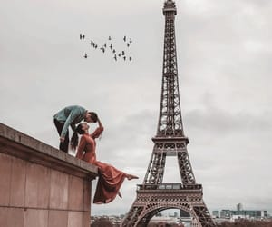 couples, eiffel tower, and romance+romantic image