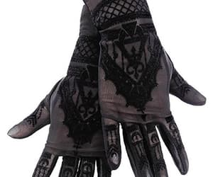 black, gloves, and restyle image