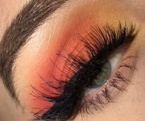 art, eyebrows, and eyeshadow image