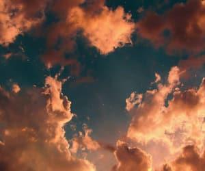 blue, cloud, and orange image