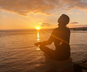 happiness, meditation, and yellow image