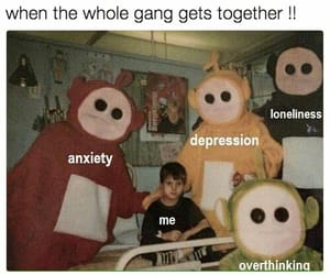 anxiety, death, and depression image