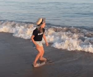 baby, beach, and gif image