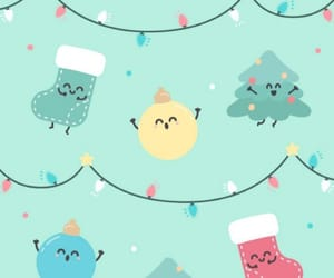 background, christmas, and decor image