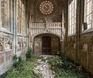 church, architecture, and abandoned image
