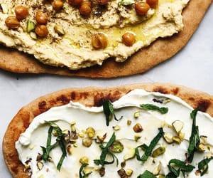 dip, hummus, and goat cheese image