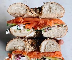 cream cheese, poppyseed, and smoked salmon image