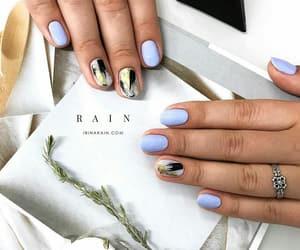 blue nails, nail art, and nail polish image