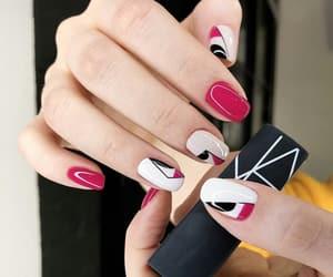 nail art, nail polish, and short nails image