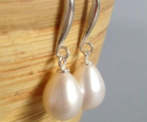 earrings, pearl earrings, and jewelry image