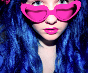 pink, blue hair, and girl image