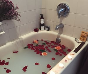 rose, aesthetic, and bath image
