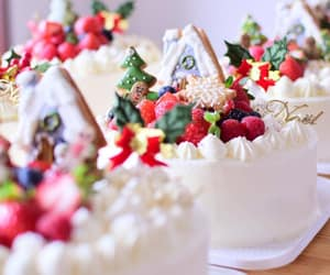cake, christmas, and christmas cookies image