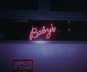 baby, neon, and grunge image