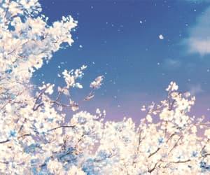 anime, sky, and gif image