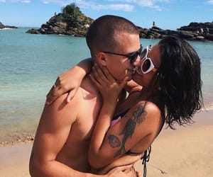 beach, casal, and Tattoos image