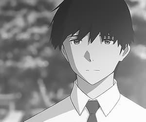 anime, black and white, and kimi no suizou wo tabetai image