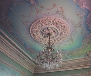 chandelier, art, and pastel image