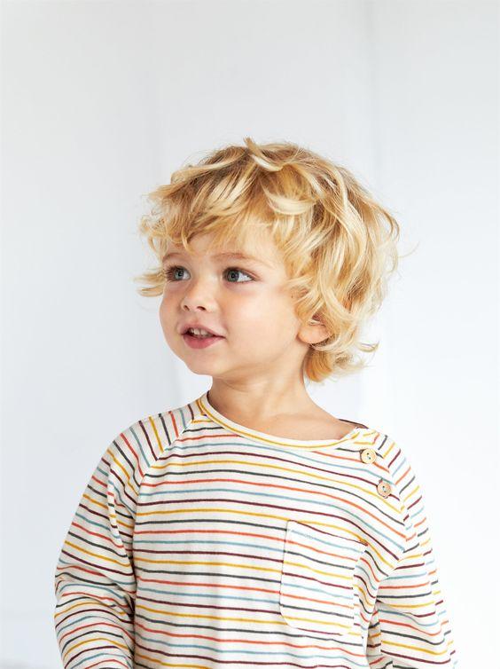 blonde little boy shared by nana on We Heart It