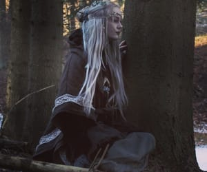 forest, lady, and otherworldly image