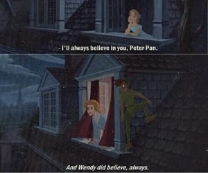 peter pan, quotes, and believe image