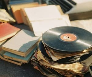 book, vintage, and music image