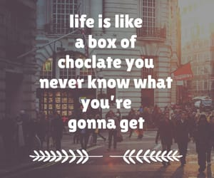 choclate, easel, and quote image