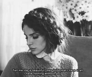 lana del rey, quotes, and without you image