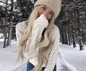 blonde, cold, and fashion image