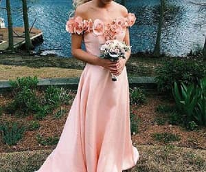 pink bridesmaid dresses, cute prom dresses, and simple bridesmaid dresses image