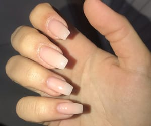 nails, Nude, and uñas image