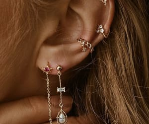 earrings, accessories, and piercing image