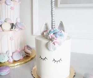 cake, bolo, and unicorn image