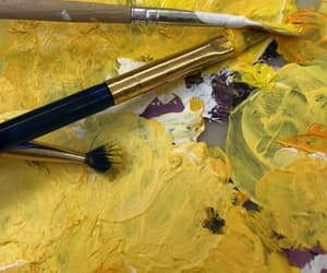 yellow, paint, and aesthetic image