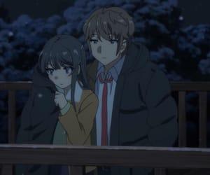 anime, couple, and mai sakurajima image