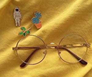 yellow, aesthetic, and glasses image