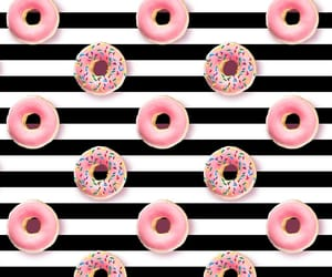 donuts, stripes, and cute image