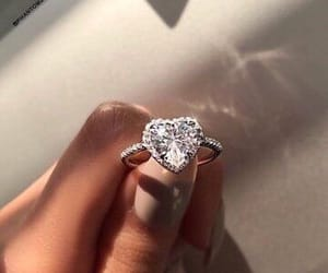 diamond, engagement, and pretty image