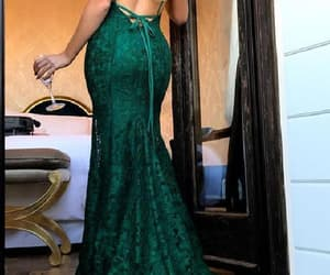 sexy party dress, v neck prom dresses, and mermaid party dress image