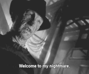 nightmare, black and white, and freddy krueger image