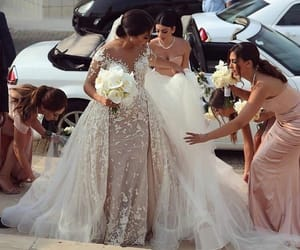 bride, together, and bridesmaids image