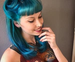 blue hair, inspo, and inspiração image