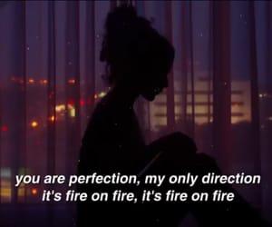fire, girl, and Lyrics image