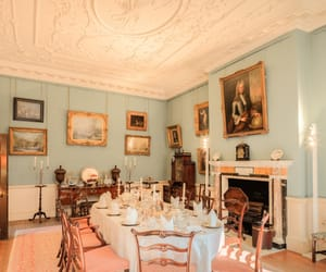 background, dining room, and dinner table image
