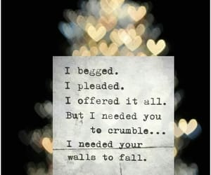 crumble, pleaded, and fall image